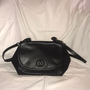 Coach Leather and Suede Crossbody Handbag